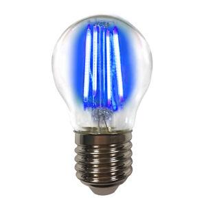 LIGHTME Barevná E27 4W LED žárovka Filament, modrá