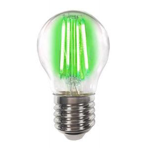 LIGHTME Barevná E27 4W LED žárovka Filament, zelená