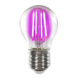 LIGHTME Barevná E27 4W LED žárovka Filament, růžová