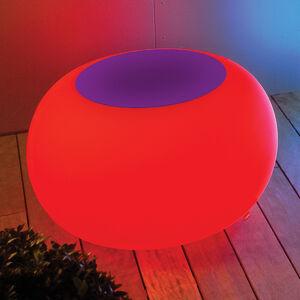 Moree Stůl BUBBLE, Licht LED RGB s plstí fialovou