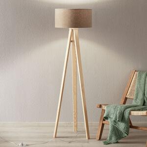 EULUNA Krémová stojací lampa Natalia s vnitřním potiskem