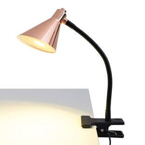 Näve Měděně zbarvená LED svítilna s klipem Janita