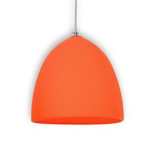 Näve Závěsné světlo Fancy ze silikonu, oranžové