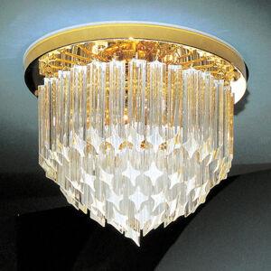 Novaresi 24 K pozlacené křišťálové stropní světlo Punta