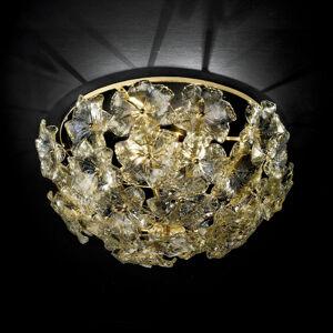 Novaresi Květované stropní světlo Lotvs ze skla Murano