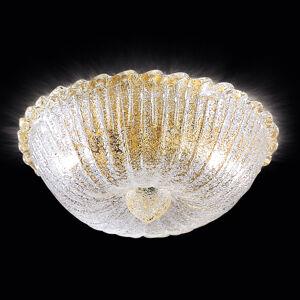 Novaresi Stropní světlo Budino zlaté čiré 30 cm