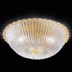 Novaresi Stropní světlo Budino zlaté čiré 40 cm