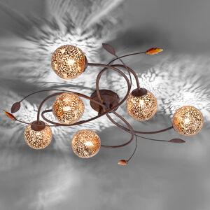 Paul Neuhaus Šestiramenné světlo Greta vkvětinovém designu