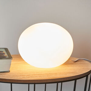 Sompex Dekorativní stolní lampa sklo ovál Ø 18 cm