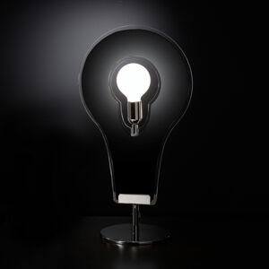 Selene Designová stolní lampa Flat 60 černá