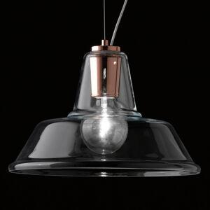 Selene Skleněné závěsné světlo Lampara s prvkem v mědi