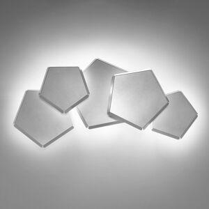Selene LED nástěnné světlo Pleiadi stříbrné, pět zdrojů