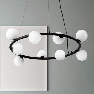 MILOOX BY Sforzin Závěsné světlo Pomì se skleněnými koulemi 9 zdrojů