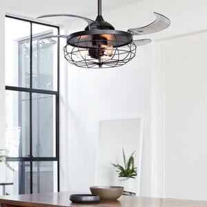BEACON LIGHTING Stropní ventilátor Fanaway Industri, lehký, černý