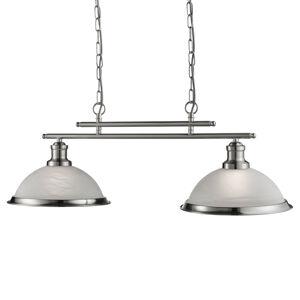 Searchlight Bistro závěsné světlo na 2 žárovku, stříbro