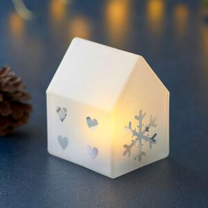 Sirius LED dekorativní světlo Santa House, výška 8,5 cm