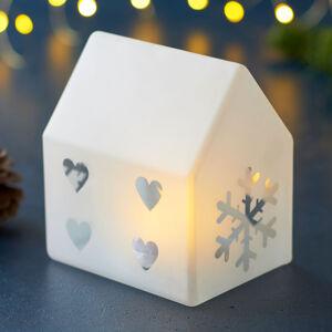 Sirius LED dekorativní světlo Santa House, výška 11,5 cm