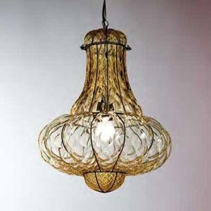Siru Ručně vyrobené závěsné světlo DOGE, jantar 41 cm