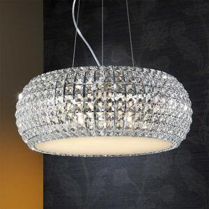 Schuller Závěsné světlo Diamond s křišťály, kulaté 54cm