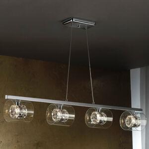 Schuller LED závěsné světlo Flash s křišťálovými kroužky
