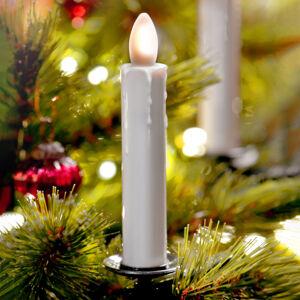Sompex LED svíčka-strom Shine, slonovina, bezdrátová 10ks