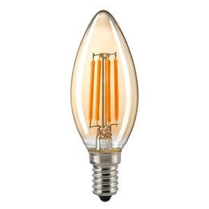 Sompex LED svíčka E14 4,5W filament, zlatá stmívatelná