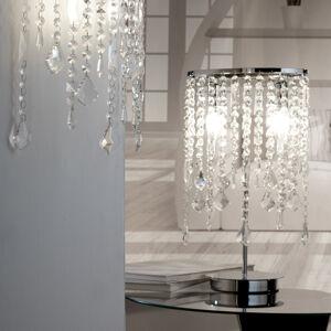 EULUNA Stolní lampa Laila s křišťálovým ověsem, 2 zdroje