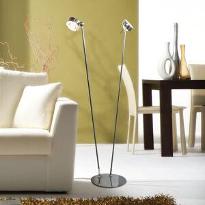 Top Light Flexibilní stojací lampa PUK FLOOR, chrom