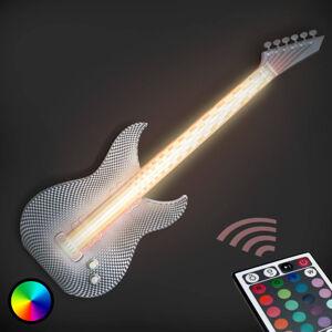 Tagwerk Rocková LED nástěnné světlo Kytara z 3D tiskárny