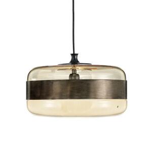 Vistosi Skleněné závěsné světlo Futura v bronzu, 40 cm