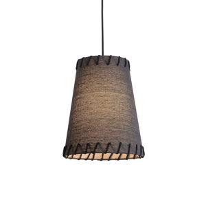 Viokef Závěsné světlo Timor, textilní, černé
