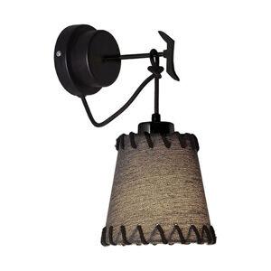 Viokef Nástěnné světlo Timor, textil, černé