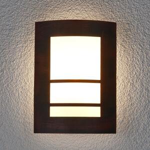 Lindby Rezavě-hnědé venkovní nástěnné svítidlo Katalea