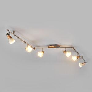 Lindby 6bodové dřevěné stropní LED osvětlení Marena