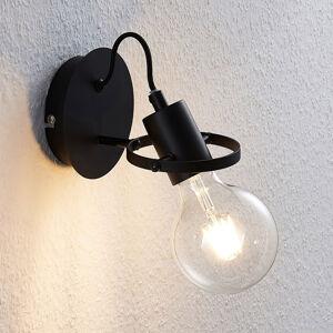 Lindby Lindby Mirtel nástěnné svítidlo v černé barvě