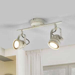 Lindby 2zdrojová LED stropní svítilna Leonor v bílé