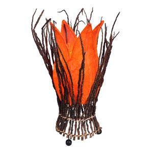 Woru Květovaná stolní lampa Stella, oranžová