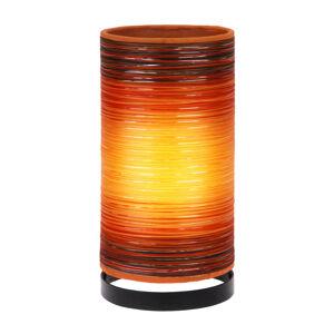 Woru Stolní lampa Julie ovinutá vlákny, oranžová