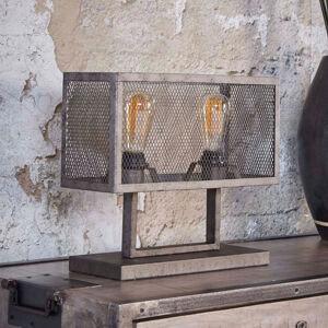 ZIJLSTRA Stolní lampa Squaregrid, dva zdroje