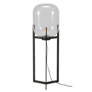 ZIJLSTRA Stojací lampa Vetallo - čiré sklo, antické stříbro