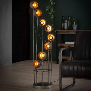 ZIJLSTRA Stojací lampa Spiralamp, osm zdrojů