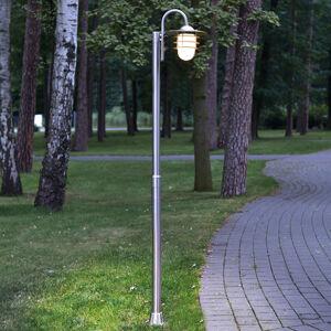 Lindby Zaoblené stožárové svítidlo Mian vyrobené z nerezu