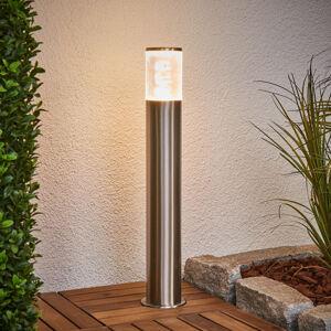 Lindby Svítidlo se soklem Belen z nerezové oceli s LED