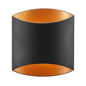Arcchio Arcchio Vilja nástěnné světlo, černá, zlatá, ovál