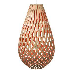 DAVID TRUBRIDGE david trubridge Koura závěsné světlo 75 cm červená