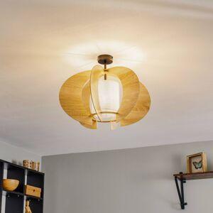 EULUNA Stropní světlo Modern C M dřevěné lamely Ø 50 cm