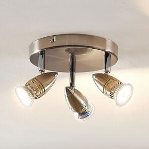 ELC ELC Kalean LED stropní svítidlo nikl, 3žárovkové