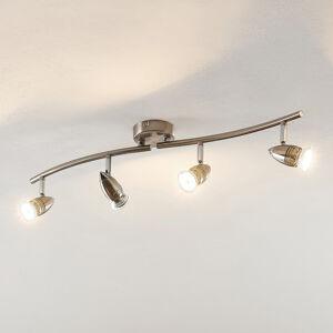ELC ELC Kalean LED stropní svítidlo nikl, 4žárovkové