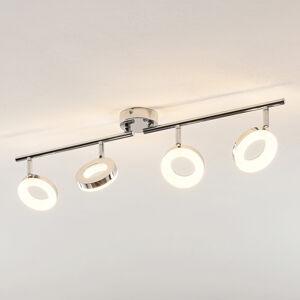 ELC ELC Tioklia LED stropní světlo, chrom, čtyřžárov.
