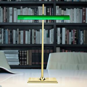 FLOS FLOS Goldman - stolní lampa s USB, zelená
